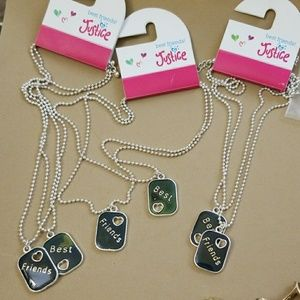 3 sets of BEST FRIENDS necklaces PARTY TIME
